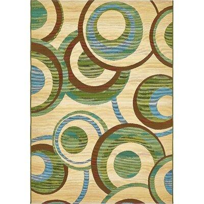 Skylar Beige Indoor/ Outdoor Area Rug Rug Size: Rectangle 53 x 8