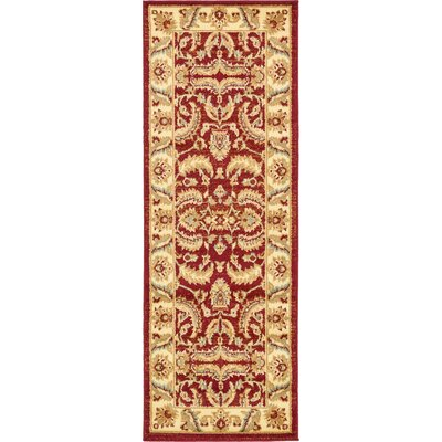 Fairmount Red Area Rug Rug Size: Runner 22 x 6