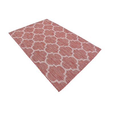 Tandridge Rust Outdoor Red Area Rug Rug Size: 4' x 6'