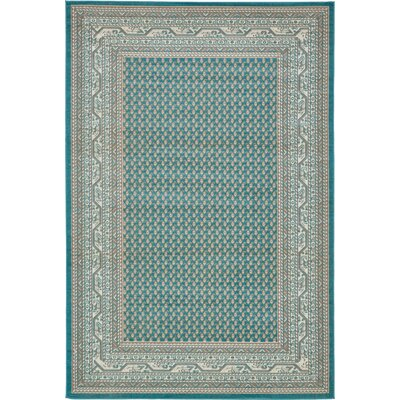 Gillam Teal Area Rug Rug Size: Rectangle 6 x 9