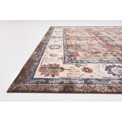 Nathanson Light Brown Area Rug Rug Size: Rectangle 9 x 12