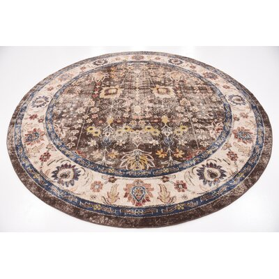 Bridgeport Light Brown Area Rug Rug Size: Round 8 x 8