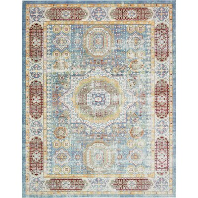 Laurelwood Blue / Red Area Rug Rug Size: 10 x 13