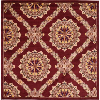 Marmont Burgundy Area Rug Rug Size: Square 8