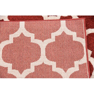 Moore Red Area Rug Rug Size: Rectangle 10 x 13