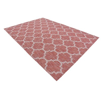 Tandridge Rust Outdoor Red Area Rug Rug Size: 7' x 10'