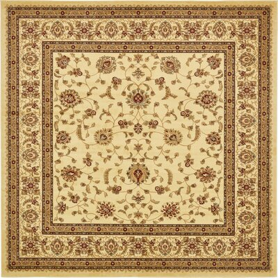 Niles Cream Area Rug Rug Size: Square 10