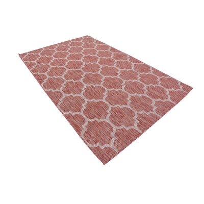 Tandridge Rust Outdoor Red Area Rug Rug Size: 5 x 8