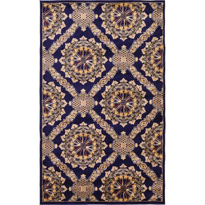 Marmont Navy Blue Area Rug Rug Size: 5 x 8