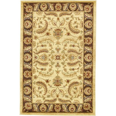 Fairmount Cream Area Rug Rug Size: 4 x 6