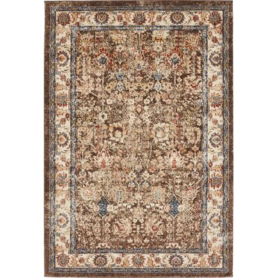 Bridgeport Light Brown Area Rug Rug Size: Rectangle 4 x 6