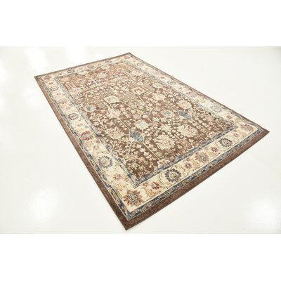 Nathanson Light Brown Area Rug Rug Size: Rectangle 5 x 8