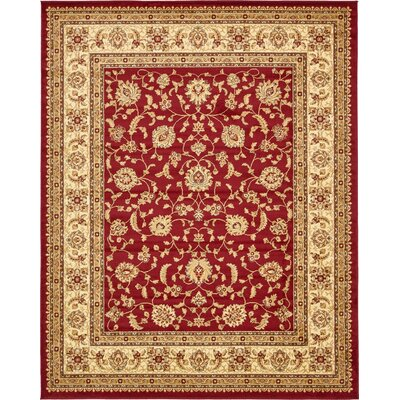 Fairmount Red/Cream Area Rug Rug Size: Rectangle 8 x 10