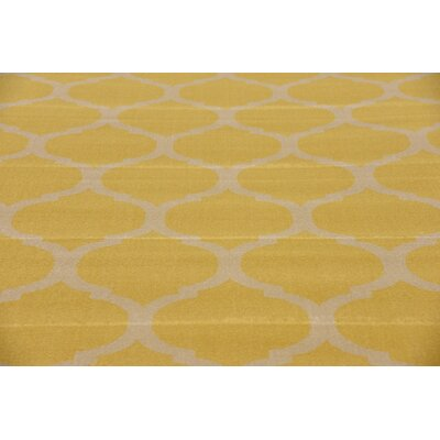Moore Yellow Area Rug Rug Size: Rectangle 106 x 165