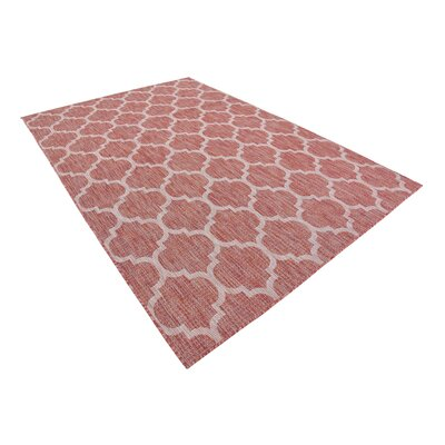 Tandridge Rust Outdoor Red Area Rug Rug Size: Rectangle 6 x 9
