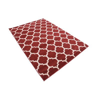 Moore Red Area Rug Rug Size: Rectangle 4 x 6