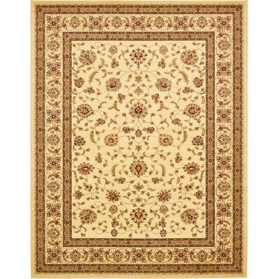 Niles Cream Area Rug Rug Size: Rectangle 10 x 13