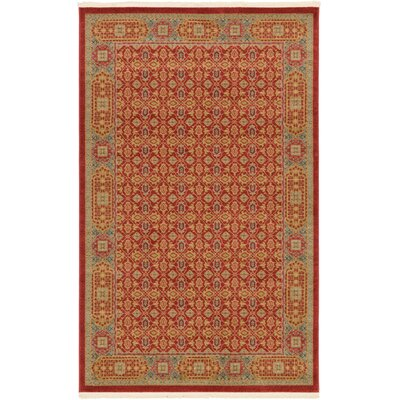 Laurelwood Red Area Rug Rug Size: 5 x 8