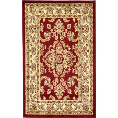 Fairmount Traditional Red Area Rug Rug Size: Round 8