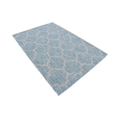 Stanton Aquamarine Outdoor Area Rug Rug Size: Rectangle 4 x 6