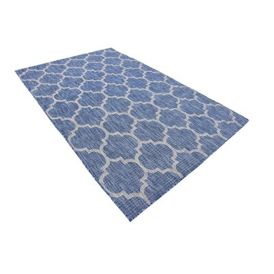 Harding Blue Outdoor Area Rug Rug Size: Rectangle 8 x 114