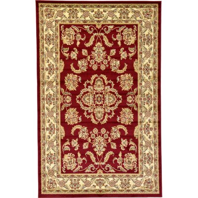 Fairmount Red Area Rug Rug Size: Rectangle 5' x 8'