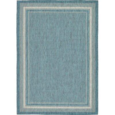 Harland Teal Outdoor Area Rug Rug Size: 8 x 114