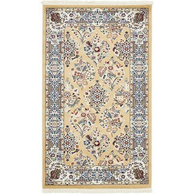 Jackson Beige Area Rug Rug Size: Rectangle 5 x 8