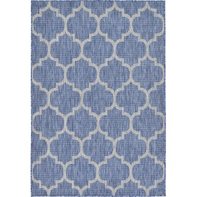 Harding Blue Outdoor Area Rug Rug Size: 4 x 6