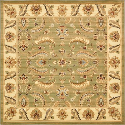 Fairmount Green Area Rug Rug Size: Square 10