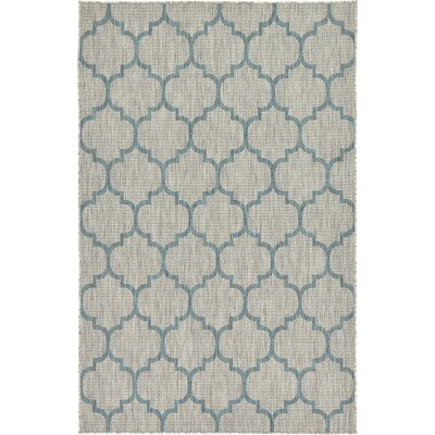 Hannah Gray Outdoor Area Rug Rug Size: 5 x 8