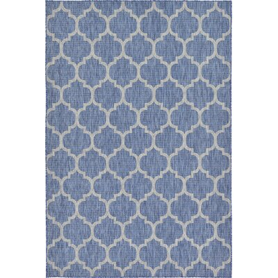 Harding Blue Outdoor Area Rug Rug Size: 6 x 9