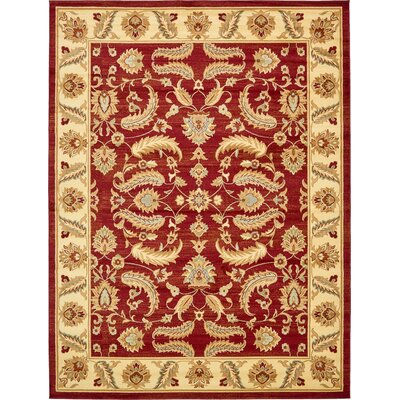 Fairmount Red Area Rug Rug Size: 10 x 13
