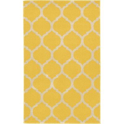 Moore Yellow Area Rug Rug Size: 33 x 53
