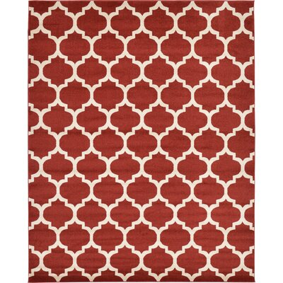 Emjay Rust Red Area Rug Rug Size: 8 x 10