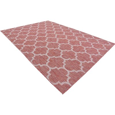 Tandridge Rust Outdoor Red Area Rug Rug Size: Rectangle 8 x 114