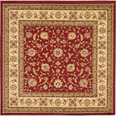 Niles Red/Cream Area Rug Rug Size: Square 8