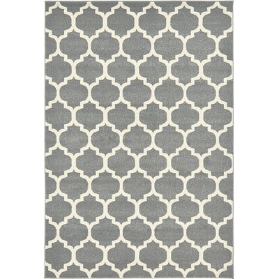 Moore Gray Area Rug Rug Size: 6 x 9