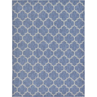 Harding Blue Outdoor Area Rug Rug Size: 9' x 12'