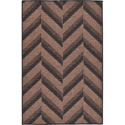 Jordan Brown Outdoor Area Rug Rug Size: Rectangle 33 x 5