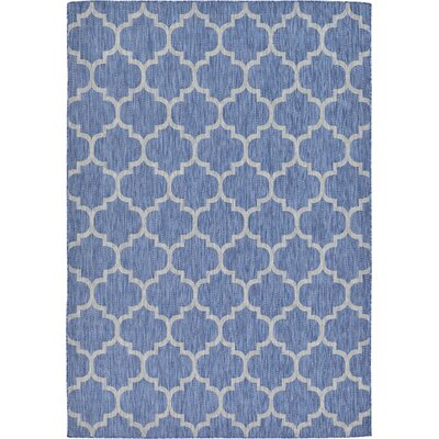 Harding Blue Outdoor Area Rug Rug Size: 7' x 10'