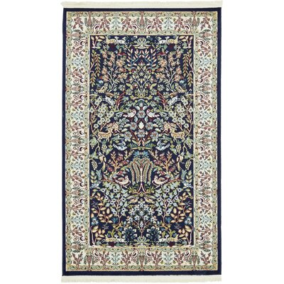 Jackson Navy Blue Area Rug Rug Size: Rectangle 3' x 5'