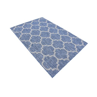 Harding Blue Outdoor Area Rug Rug Size: Rectangle 4 x 6