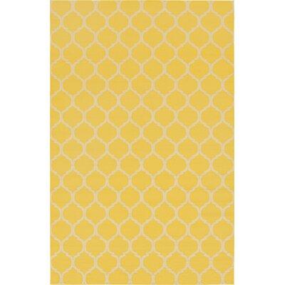 Moore Yellow Area Rug Rug Size: 106 x 165