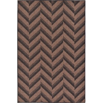 Jordan Brown Outdoor Area Rug Rug Size: Rectangle 53 x 8