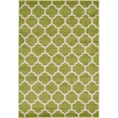 Emjay Light Green Area Rug Rug Size: 4 x 6