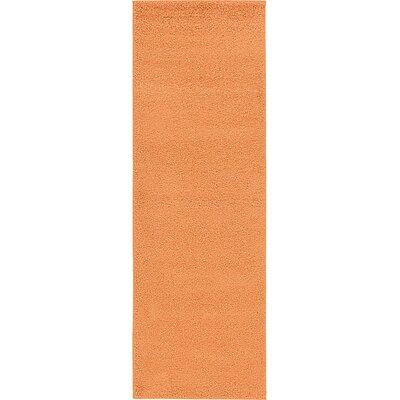 Aquino Orange Area Rug Rug Size: Runner 33 x 910