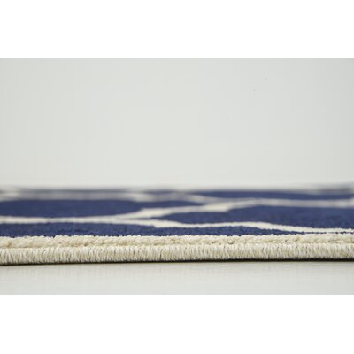 Moore Navy Blue Area Rug Rug Size: 9 x 12