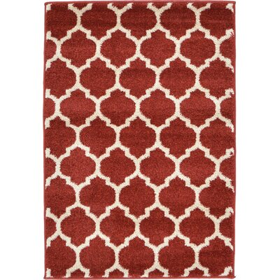 Emjay Rust Red Area Rug Rug Size: 22 x 3