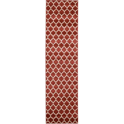 Emjay Rust Red Area Rug Rug Size: Runner 27 x 10